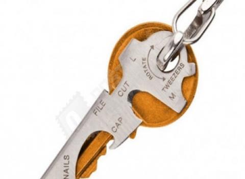 5afb7864b2801 Praktická kľúčenka 8 v 1 vyrobená z kvalitnej ocele, doprava zdarma.