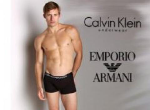 23a9ef6d4 Dámske alebo pánske spodné prádlo značky CK alebo EA, 2 kusy v balení.