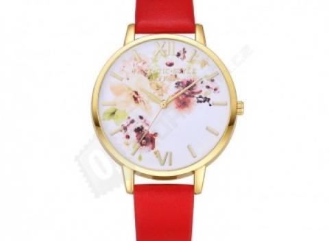ede77a031 Náramkové hodinky s kvetinovým ciferníkom, doprava zdarma.