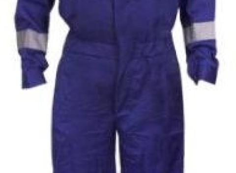 Pracovná kombinéza s reflexnými prvkami v modrej farbe 986fd574886