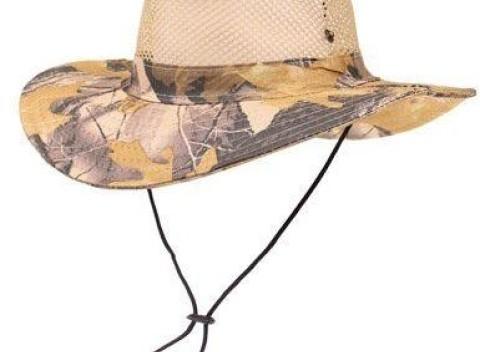d801317b0 Maskáčový klobúk do prírody - šedo žltý, vrchná časť je sieťovaná.