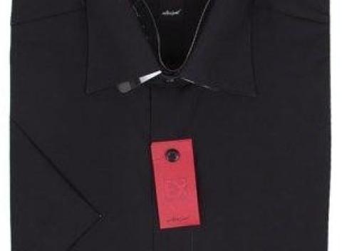 Pánska košeľa v čienejj farbe s krátkym rukávom 1daf29dfef1