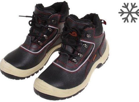 68b34e2d0ff36 Členkové zimné pracovné kožené topánky s vystuženou špičkou, vel. 41.