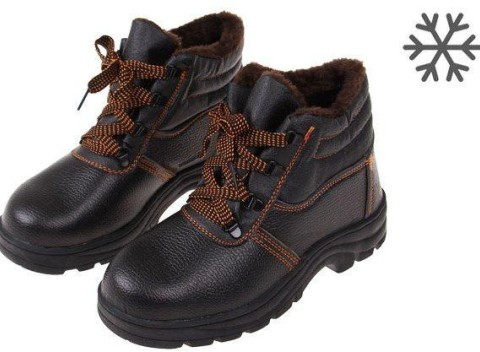 Členkové zimné pracovné kožené topánky s vystuženou špičkou 5a646692c8a