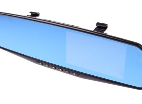 Predná a zadná kamera do auta DVR Full HD 1080P s 4.3 displejom. 5cd47aa2208