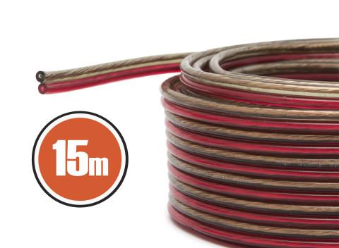 543f38f9efff OXIGEN FREE lankový kábel s červenou čiernou priehľadnou PVC izoláciou.