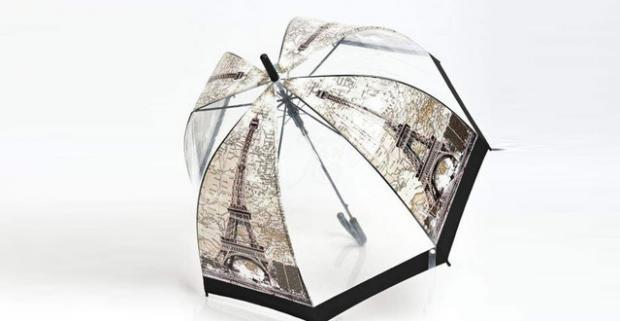 ade259ae4 Veselé transparentné dáždniky do dažďa. Vystreľovací dáždnik s ...