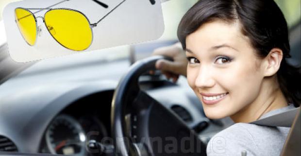 Špeciálne okuliare so žltými sklami pre vodičov, ktoré zlepšujú videnie za tmy. Bezpečnejšie a pohodlnejšie šoférovanie.