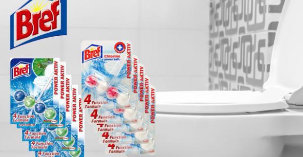 Výhodné balenie 10 kusov WC blokov BREF Power Activ, ktoré sa oplatí. Vďaka 4 funkciám v jednom vám zaručí hygienickú čistotu.