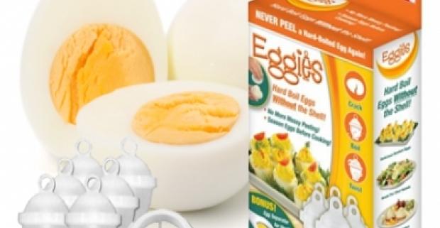 Eggies nádoba na varenie vajec s nepriľnavým povrchom. Vychutnajte si fantastické vajíčka bez toho, aby ste museli šúpať škrupinu!