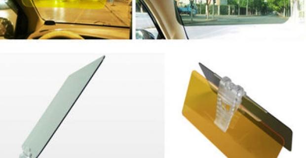 Day &Night Visor - Pripojiteľný panel kslnečnej clone. Denný a nočný pomocný panel k šoférovaniu pre bezpečnú jazdu!