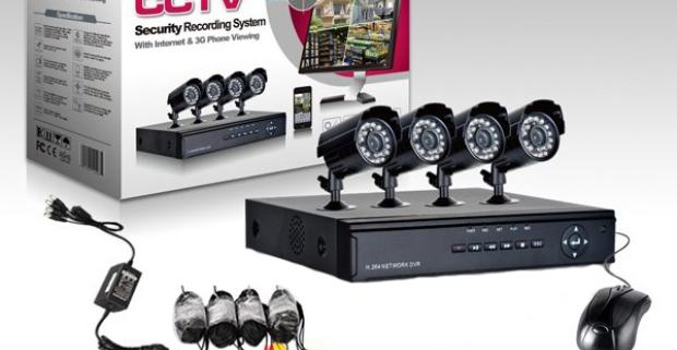 Bezpečnostný kamerový systém so 4 kamerami s nočným videním. Vhodné do interiéru i exteriéru. Systém DVR vám spoľahlivo ochráni váš majetok.