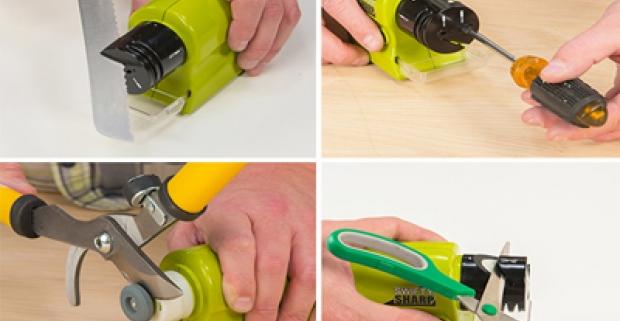 Swifty Sharp - praktická multifunkčná brúska na nože. Brúste ľahko a bez námahy, v priebehu niekoľkých sekúnd!