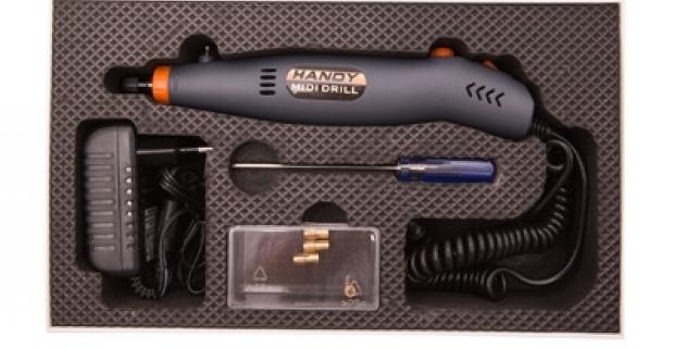 Handy drill midi vŕtačka je modelárska vŕtačka určená na brúsiace, gravírovacie a vŕtacie práce v domácnosti a na hobby účely.