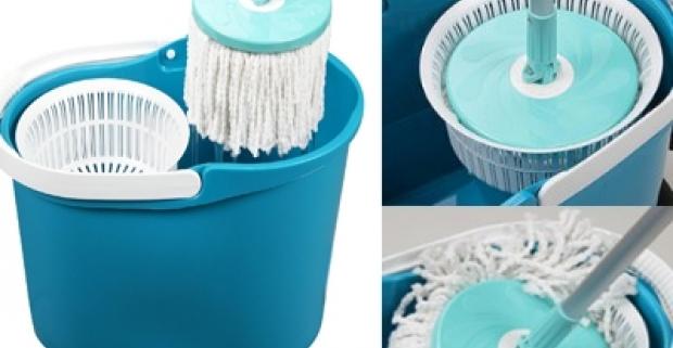 Praktická sada na umývanie - mop s rotačnou hlavou. Bez špinenia rúk zaistíte dokonalé a rýchle vyčistenie všetkých druhov podláh.