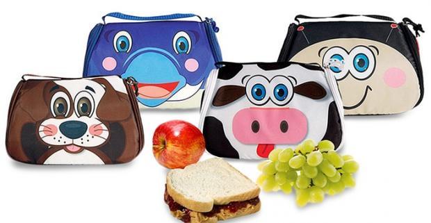 Veselá desiatová taška zvieratká pre deti do školy - obsahuje chladivý gél, ktorý udrží jedlo či nápoj v chlade až 7 hodín.