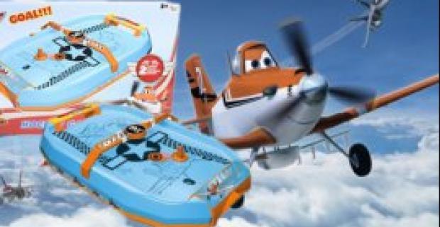 Vzdušný hokej od Disney Planes. Zábavná hokejová hra s motívom obľúbeného animovaného filmu Lietadlá, poháňaná vzdušnými prúdmi.