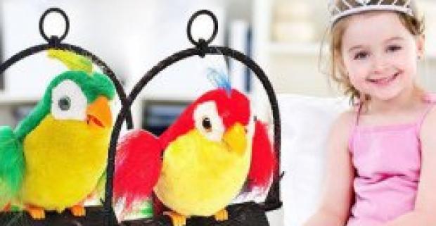 Super hračka - hovoriaci papagáj. Ak vaše deti snívajú o papagájovi, potešte ich touto fantastickou farebnou hračkou.