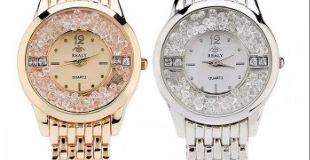 c09fa89e1 Luxusné a elegantné dámske hodinky s presýpacími kamienkami ako jedinečný  módny doplnok pre každú príležitosť.