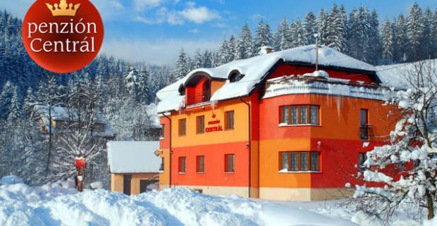 Zimný pobyt s wellness v Oščadnici v penzióne Centrál. Po výdatnej lyžovačke zregenerujete telo vo vírivke alebo vo fínskej saune.