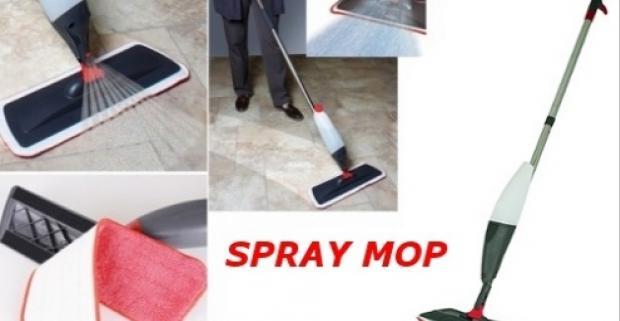 Praktický Spray mop zabezpečuje veľmi ľahké čistenie a tiež maximálne jednoduché a pohodlné udržiavanie rôznych podláh.