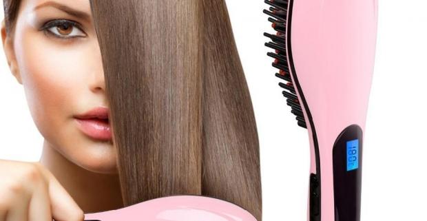 Antistatická digitálna kefa na vyrovnanie vlasov. Vlasy upraví, vyžehlí, dodá im krásny lesk a pomocou generátora iónov ich tiež hydratuje.