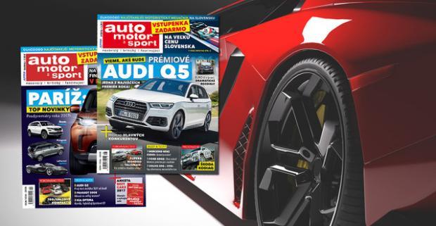 Nechajte sa vlákať do sveta motorov. Predplatné na 12 alebo 6 časopisov Auto motor a šport pre milovníkov automobilov.
