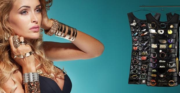 Organizér šperkov pre dokonalý poriadok. Závesný systém, s ktorým svoje módne šperky nájdete kedykoľvek bez dlhého hľadania.