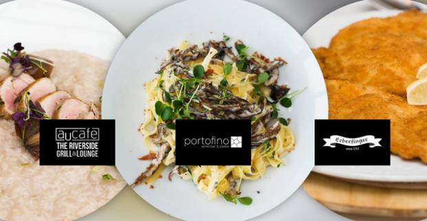 Túlate sa zimnou Bratislavou a chcete ísť na romantickú večeru. Trojchodové menu pre dvoch v reštauráciách Au Café, Portofino, Leberfinger.