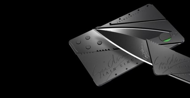 Nôž CardSharp - fantastický skladací nôž vo veľkosti kreditnej karty. Široké využitie, zmestí sa do každej peňaženky.