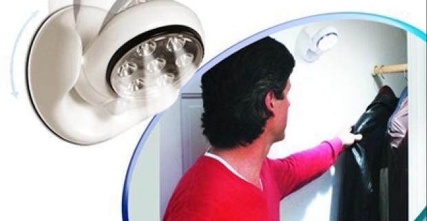Praktická lampa so senzorom pohybu so 7 LED svetlami. Skvelá pomôcka, ktorá vám zabezpečí dokonalé osvetlenie aj pri výpadku energie.