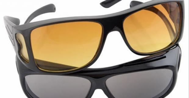 Okuliare pre vodičov HD Vision 2ks. Zvýšte svoj komfort a bezpečnosť pri cestovaní pomocou špeciálnych polykarbonátových skiel.