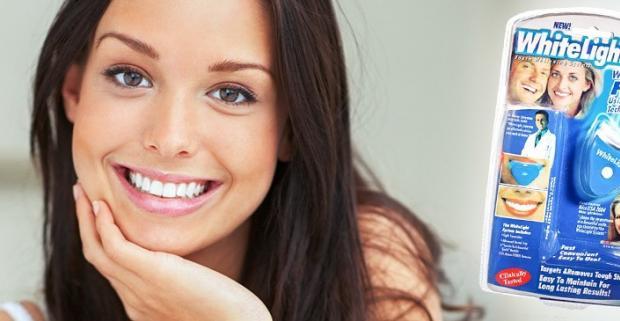 Oslňte krásnym bielym úsmevom s revolučným výrobkom white light. V pohodlí vášho domova už žiadne návštevy lekárov.