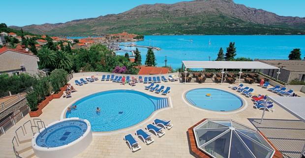 Skvelá dovolenka v Južnej Dalmácii na ostrove Korčula s ubytovaním a polpenziou v hoteli Marko Polo.