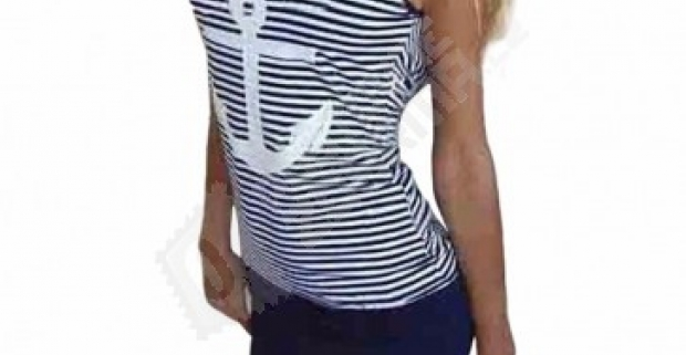 Letné dámske námornícke šaty s kotvou - na výber 2 farby 3ce3d8a130c