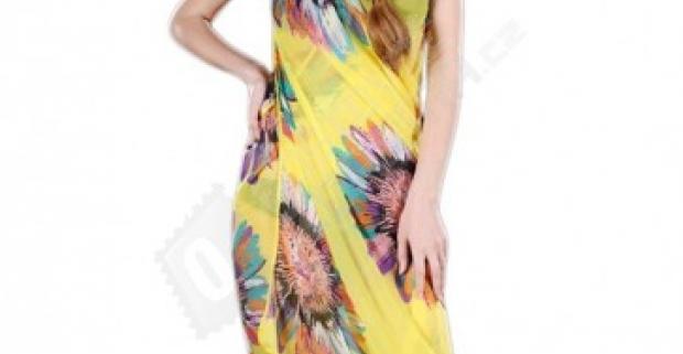 Letné šifónové zavinovacie šaty na plavky e639d56538c