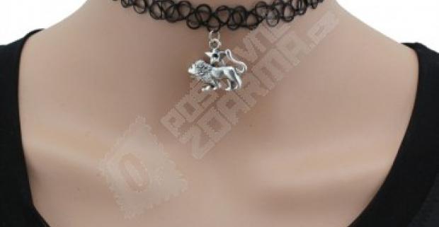 321d58ab0 Čierny choker náhrdelník s príveskom v znamení zverokruhu, doprava zdarma.