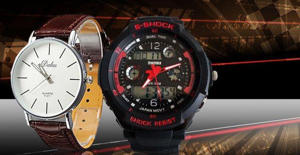 9a9c09d9a Športové alebo elegantné hodinky pre pánov - kvalitné značky Quartz a Dual  Time.