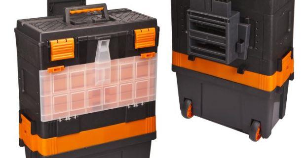 adfd6d2305540 Praktický plastový box na náradie na kolieskach 460 x 330 x 800 mm.