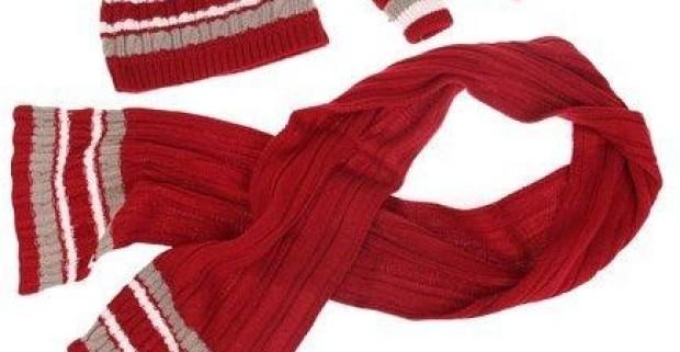 Detský zimný pletený set so šálom 2357955a6f