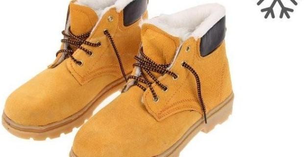 Členkové zimné pracovné kožené topánky s vystuženou špičkou ... 0b1143710aa