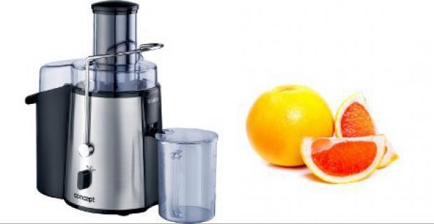 Kvalitný odšťavovač plodov Concept. Pripravte si doma osviežujúci, vždy čerstvý 100%-ný džús podľa svojej chuti.