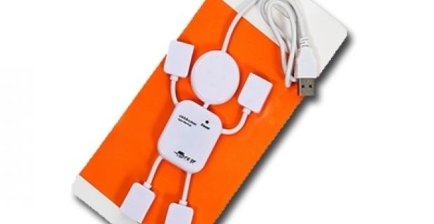 Štvorportový USB Hub Praktická pomôcka v tvare panáka