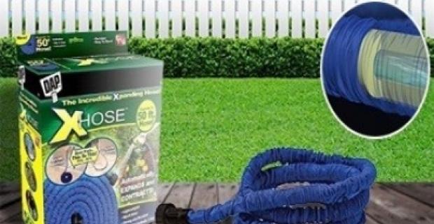 Xhose záhradná hadica predstavuje praktického pomocníka do každej záhrady. Dokáže sa natiahnuť na dvojnásobok svojej dĺžky.