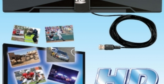 Ultra tenká izbová anténa pre príjem HD vysielania. Jednoduchá inštalácia k TV prijímaču pomocou koaxiálneho kábla.