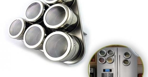 Magnetická sada na korenie Vynikajúci pomocník do každej modernej kuchyne