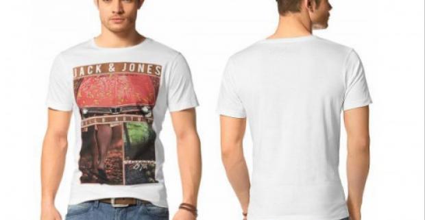 3718b138e Kvalitné pánske biele tričko s nápadnou prednou potlačou. Okrúhly výstrih,  krátke rukávy. 100% bavlna. Strih: úzky.