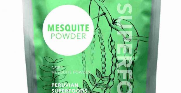 100% BIO prášok z luskov mesquite, ktorý obsahuje proteín, vlákninu, vápnik, horčík, draslík, železo a zinok.