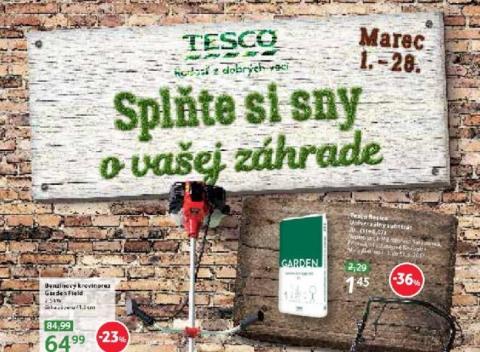 Tesco - Splňte si sny o vašej záhrade - malé hypermarkety