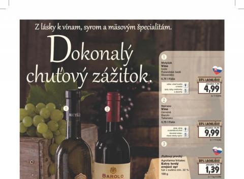 Kaufland - Víno a syry